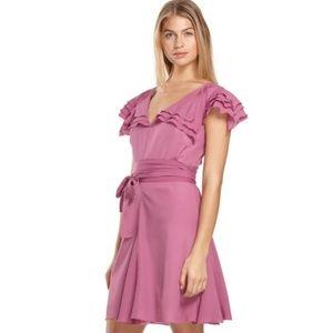 Zac Posen Magenta Pink Ruffle Dress